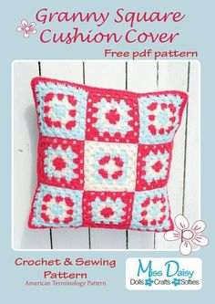 Granny Square Cushion Cover Pattern