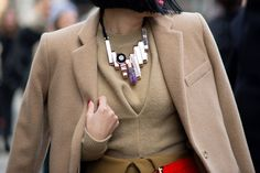 styling a statement necklace in fall winter