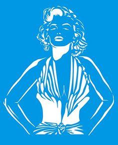 "8.3"" x 6.8"" (21cm x 17cm) Reusable Flexible Plastic Stencil for Graphical Design Airbrush Decorating Wall Furniture Fabric Decorations Drawing Drafting Template - Marilyn Monroe Litoarte http://www.amazon.com/dp/B00NS3WVVM/ref=cm_sw_r_pi_dp_i9sAub10RMBWJ"