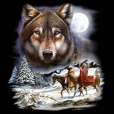 Native American Wolf Spirit | Native American Indian Wolf Spirit T-Shirt T Unisex Tee Sizes M-L-XL ...