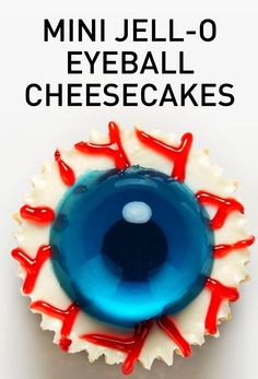 Find out how to make these spooktacularly scrumptious and fun JELL-O Eyeball Pumpkin Cheesecakes!  #whatscooking #kraftwhatscooking #jello #halloween