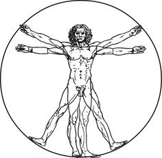 Vitruvian Man - Da Vinci Tattoo #t4aw #tattooforaweek #temporarytattoo #faketattoo #vitruvian #man #davinci #tattoo #art