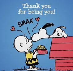 """""""Thank you for being you."""" Snoopy and Charlie Brown"""