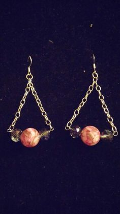 Pink Chandelier Crystal earrings