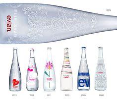 evian's limited edition designer bottles from 2008-2014