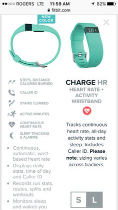 Fitbit charge HR in teal Fitbit Hr, Fitbit Charge Hr, Fitbit Flex, Stair Climbing, Caller Id, Gym Rat, Fitness Tracker, Kettlebell, Burn Calories