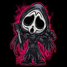 Lordmesa Art — Ghost face!!!    #scream #ghostface...
