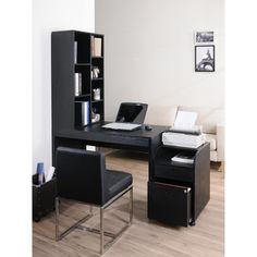 Furniture of America Zayo Black Finish Office Desk with Bookshelf | Overstock.com Shopping - Great Deals on Furniture of America Desks