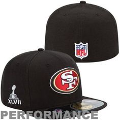 check out 5b622 225f7 New Era San Francisco 49ers Super Bowl XLVII On-Field 59FIFTY Fitted Flat  Bill Hat - Black