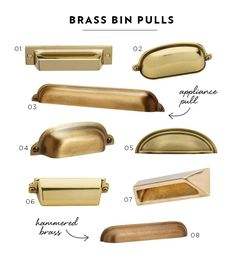 Brass Bin Pulls Cabinetry Hardware