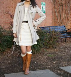 boots and dress = cute and easy