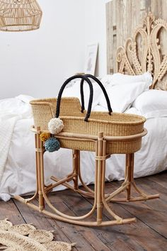 Our classic Esi Moses Basket and Martha rattan stand looking natural and ready for some tiny toes to lie in it and gently rock to sleep 💤. Baby Room Design, Baby Room Decor, Baby Bedroom, Baby Bassinet, Baby Cribs, Rattan, Moses Basket Stand, Baby Baskets, Baby Boys
