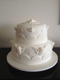 Passo a passo anjinho e bolo de batizado