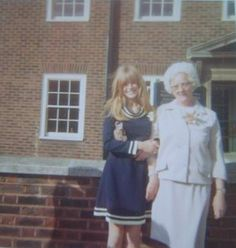 Cool pin via Brenda O'Connell - Marianne Faithfull and my Mum at my wedding 1966.
