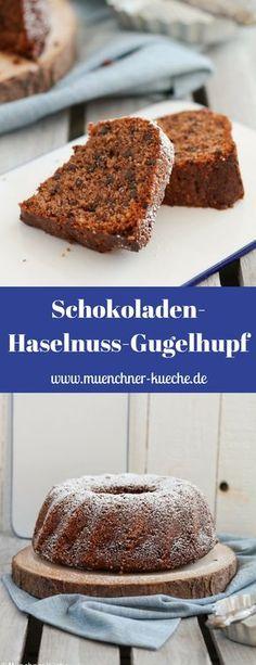 Der Schokoladen Haselnuss Gugelhupf ist super fluffig und saftig. Er ist der perfekte Rührkuchen und halt sich so auch ein paar Tage | www.muenchner-kueche.de #schokolade #haselnuss #gugelhupf #kuchen