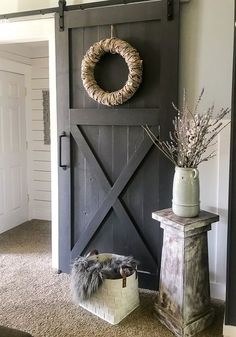 An easy and thorough step-by-step tutorial on how to make a sliding barn door. Barn doors make a statement in any room and become the decor. How to Make Your Own Sliding Barn Door - Repurpose Life Diy Barn Door Hardware, Diy Sliding Barn Door, Diy Barn Door Plans, Closet Barn Doors, Bedroom Barn Door, Barn Door Decor, Barn Door Pantry, Barn Door To Bathroom, Sliding Pantry Doors