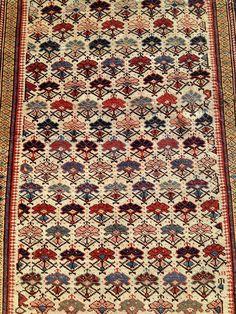*Elegant Antique Caucasian Kuba Rug*  #Caucasian