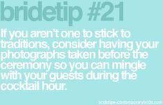 Bride tip #21