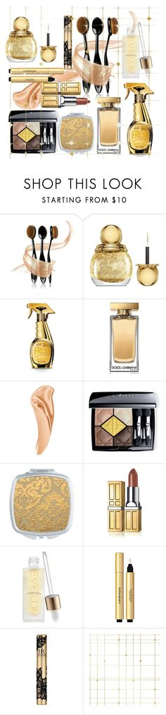 """""""#PolyPresents: Sparkly Beauty"""" by m-jelic ❤ liked on Polyvore featuring beauty, Christian Dior, Moschino, Dolce&Gabbana, Elizabeth Arden, Space NK, Yves Saint Laurent, Helena Rubenstein, Tempaper and contestentry"""