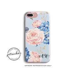 Personalized INITIALS iPhone Case - iPhone 7 Case - iPhone 7 Plus Case - iPhone 6 Case - iPhone 8 Case - iPhone X Case - iPhone 8 Plus Case by PetrichorCases on Etsy Iphone 7 Plus Cases, Iphone 6, 6 Case, Initials, Artwork, Etsy, Work Of Art