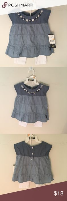 U.S.POLO ASSN. baby girl 2piece set dress Brand new 2piece set for 12 month U.S. Polo Assn. Other