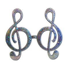 This pair of silver music style fancy dress glasses will be a great addition to your party outfit. Fancy Dress Glasses, Party Supplies, Washer Necklace, Music, Silver, Jewelry, Dresses, Style, Fashion
