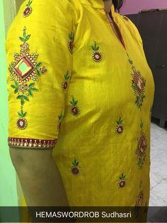 mirror work blouse