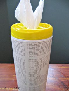 keep plastic bags in recycled wipes container. http://vistatubes.com/