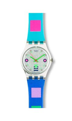 This was my very first Swatch Watch.  I loved it.  I want to rebuy it and sport it soon :-)  Brings back memories of how excited I was when my parents got it for me.  *80's/90's child*
