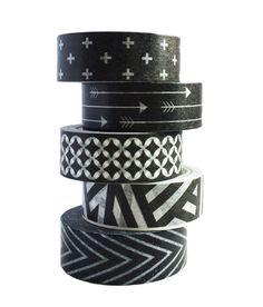 Masking tapes black and white