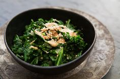 Sautéed Kale with Tahini Sauce