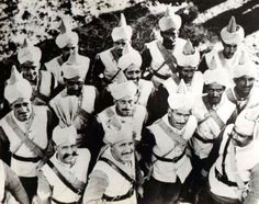 Punjabi Muslim troops from an Animal Transport Company of the Royal Indian Army Service Corps (RIASC) detachment, that went to France before the Blitzkreig in 1940. These were the first Indian troops to see action during the Second World War
