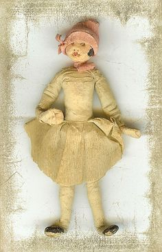 "supposedly a ""spit doll"" and not a spun cotton ornament...but a good example to use for cotton ornament!"