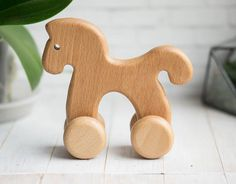 Our wooden push horse is a splendid learning toy. Little toddlers will love it. … Our wooden push horse is a splendid learning toy. Little toddlers will love it. It is made of two species of wood- beech and linden… Continue Reading → Wooden Projects, Wooden Crafts, Wooden Diy, Wooden Baby Toys, Wood Toys, Toddler Toys, Kids Toys, Push Toys, Learning Toys