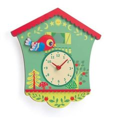 Little Big room Horloge Coucou Peggy - Gaspard Boys Room Decor, Kids Room, Childrens Christmas Gifts, Cute Clock, Gaspard, Clock For Kids, Deco Retro, Wooden Clock, Jewellery Boxes