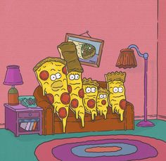 Family Pizza, The Simpsons Simpsons Art, Pizza Life, Pizza House, Logo Pizza, Pizza Girls, Pizza Art, Pizza Planet, I Love Pizza, Drawing Tips