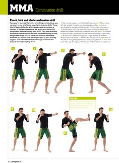 Step-by-step combination drill from MMA Workouts