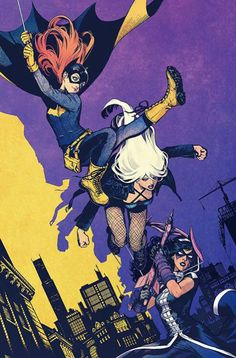 "birdsofpreysource: "" Kamome Shirahama's variant cover for Batgirl & The…"