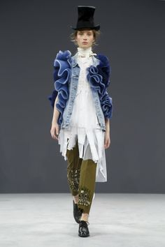 Viktor&Rolf Couture Fall Winter 2016 Paris #pants #denim #jacket