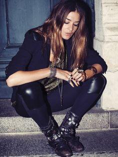 Rock Style Fashion, Plácido de la Rosa, hard rock, rock and roll, fashion, moda, gürtel, leather belt, rocker woman, jeans, accessories, complementos, skull