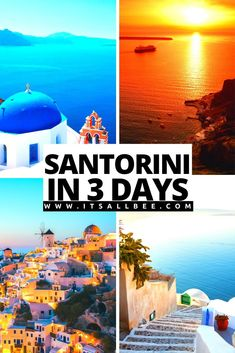 How To See Santorini In 3 Days - Things to do in Santorini, places to visit, and where to stay. - #itsallbee #traveltips #greece #europe #islandhopping --------------------------santorini itinerary 3 days | santorini en 3 dias | santorini greece 3 days | Santorini things to do | santorini itinerary 3 days | santorini places to stay | santorini places to visit