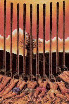 10 de bâtons - Tarot des âges par Mario Garizio