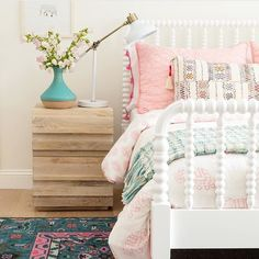 Jamie Keskin Design (House of Turquoise) - Girls Room Design Big Girl Bedrooms, Little Girl Rooms, Girls Bedroom, Bedroom Decor, Bedroom Ideas, Bedroom Designs, Master Bedroom, Childrens Bedroom, Modern Girls Rooms