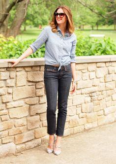 Chambray and blue jeans—classic with a twist
