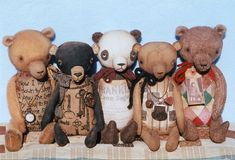 Primitive cloth Teddy Bear PATTERN - Primitive Keepsake Teddy Bears - HHF304