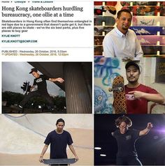 Thanks to SCMP to show love to HK skateboarding @8five2shop www.8five2.com @scmp_news