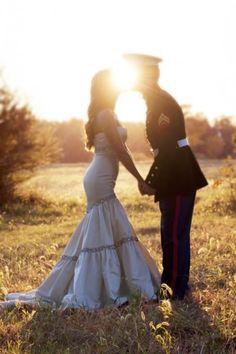 #1 pick Military Wedding- love the dress!!
