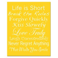 Life Rules  8 x 10 Print  Inspirational Quotes and by Tessyla, $20.00