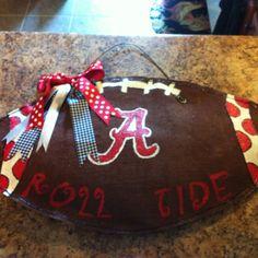 University of Alabama Football burlap