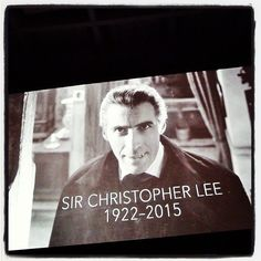 Goodbye my prince... #ChristopherLee #HorrorofDracula 1958 #nv15 #maximumHalloween3015